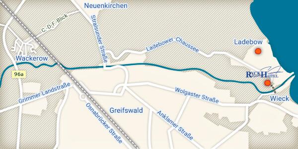 Greifswald Karte.Anreise Planen